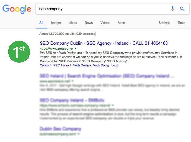 Search Engine Optimisation Ireland